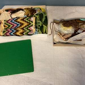 Lot # 206 Lot of Needle Point Material
