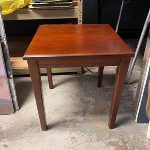Lot # 219 Medium-Sized Square Wooden Endtable