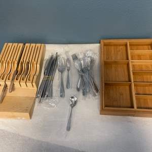 Lot # 220 Lot of Reed & Barton Utensils and Holders