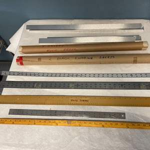 Lot # 223 Lot of Rulers, Special Paper, and Picture Frames
