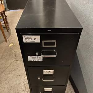 Lot # 247 HON 3-Drawer Metal File Cabinet