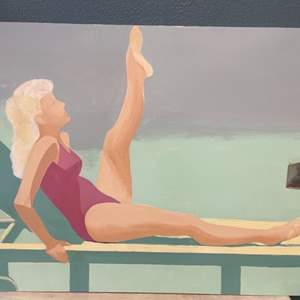 Lot # 253 Woman At The Pool Painting