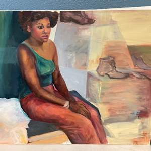 Lot # 255 Woman At A Shoe Shop Painting