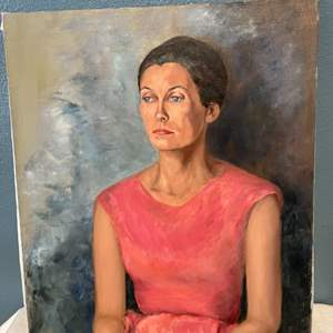 Lot # 257 Profile Shot Of A Woman, Painting