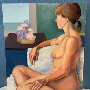 Lot # 258 Woman Looking into the Distance Painting