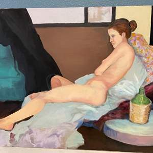 Lot # 259 Woman Laying Down Painting