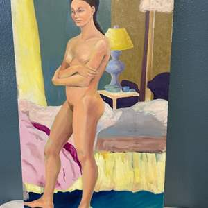 Lot # 260 Naked Woman Standing Painting
