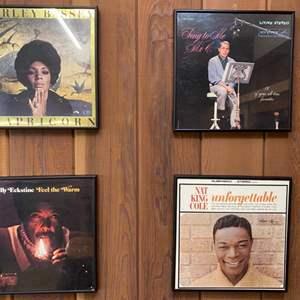 Lot # 9 Lot of 4 Framed Album Covers