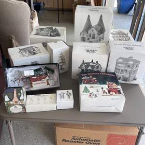 """Lot # 31 Lot of Dept 56 Heritage Village Christmas Decor Collection """"Dickens Village Series"""""""