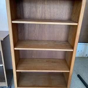Lot # 53 Three-Shelf Bookcase