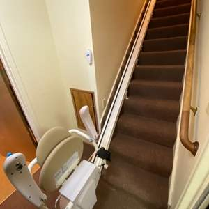 Lot # 59 Savaria Electric Stair Chair - Will Need to be Dismantled, Bring Tools!