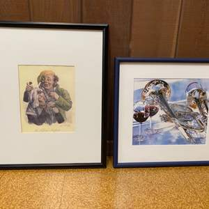 Lot # 61 Lot of Two Framed Artwork Pieces
