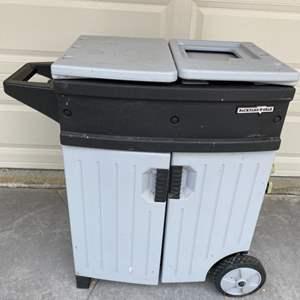 Lot # 80 Backyard Gear Brand Storage Unit? On Wheels