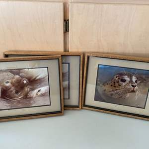 Lot # 92 Lot of Sea Lion? Prints, signed Justice