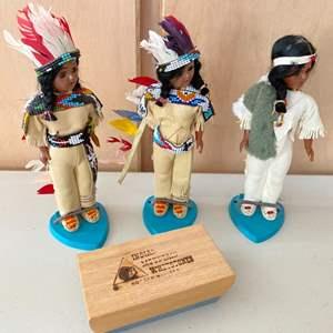 Lot # 96 Native American Figurines plus Indian Mountain Whetstone