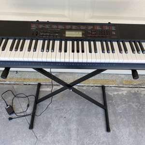 Lot # 100 Casio LK-160 Keyboard with Stand