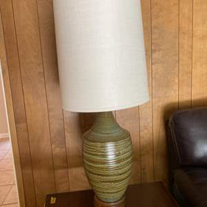 Lot # 102 Tall Side Table Lamp with Ceramic Base