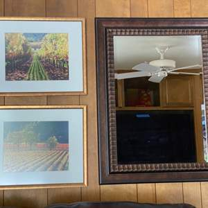 Lot # 106 Two Pictures of Vineyard Plus One Mirror