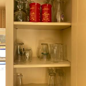 Lot # 110 Lot of Drinking Glasses