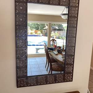 Lot # 118 Mirror with Decorative Metal Frame