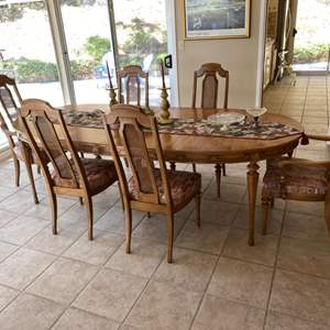 Lot # 125 Sienna Senior Oval Dining Table with 6 Chairs