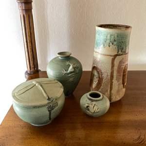Lot # 132 Lot of Stoneware Pottery Decor