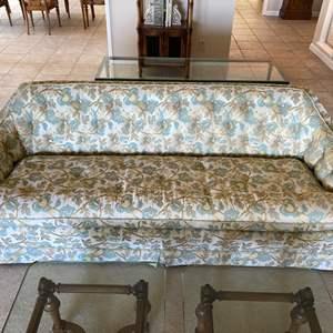 Lot # 135 Vintage Floral Plant Pattern Sofa