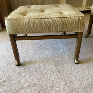 Lot # 137 Pair of Vintage Striped Pattern Rolling Footrests