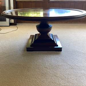Lot # 138 Round Wood Coffee Table