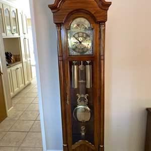 Lot # 141 Ridgeway Grandfather Clock Un-Tested