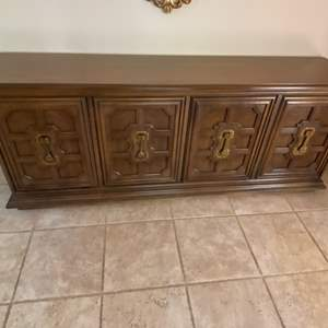 Lot # 142 Wood Storage Cabinet (Contents Not Included)
