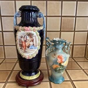 Lot # 147 Pair of Decorative Vases