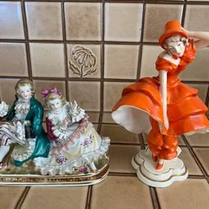Lot # 148 Pair of Figurines