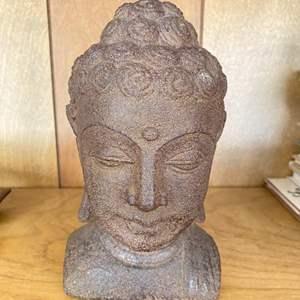 Lot # 166 HEAVY Buddha Head Decor