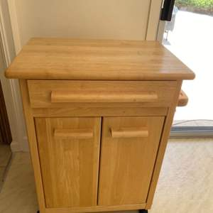 Lot # 167 Wood Cabinet Storage Cart