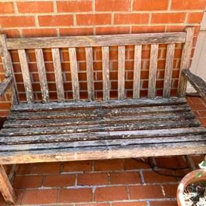 Lot # 185 Wood Bench