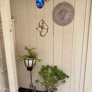 Lot # 198 Two Potted Plants plus Hanging Decorations
