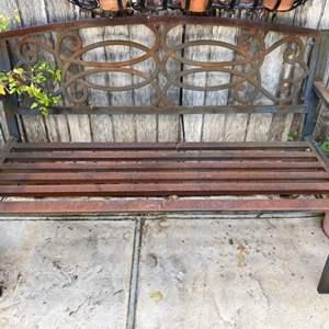 Lot # 208 Metal Bench