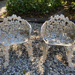 Lot # 212 Pair of Outdoor Chairs