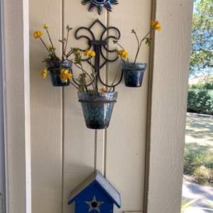 Lot # 217 Lot of Plants and Outdoor Decorations