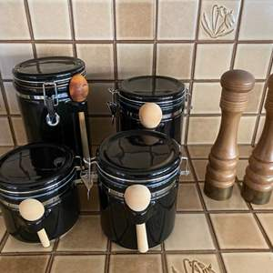 Lot # 243 Set of Furio Home Containers and Pair of Salt/Pepper Mills