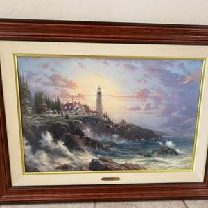 """Lot # 261 """"Clearing Storms"""" By Thomas Kinkade"""