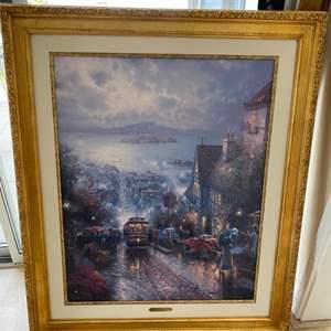 "Lot # 262 ""Hyde Street and the Bay, San Francisco"" Thomas Kinkade"