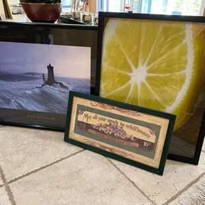 Lot # 275 Jean Guichard Print, Lemon Print, and Barton Choice Seed Co. Print