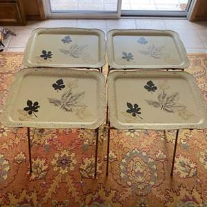 Lot # 278 Floral TV Trays