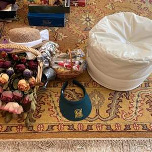 Lot # 282 Lot of Flowers, Pouf Chair, Dollhouse Chairs