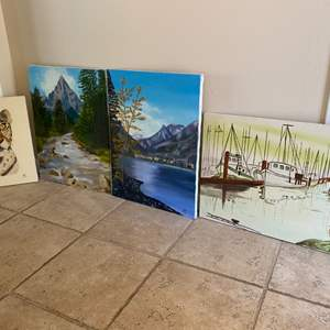 """Lot # 289 Lot of Four Paintings, Signed """"JAC"""""""