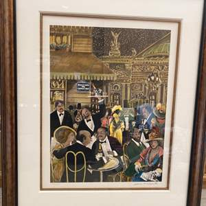 Lot # 295 Restaurant Print, Artist Signed and Numbered