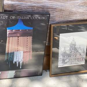 Lot # 314 The Art Of Italian Cooking Print and The Carson Manaion Eureka Print