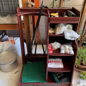 Lot # 332 Lot of Golf Organizer - Golf Clubs Included!!